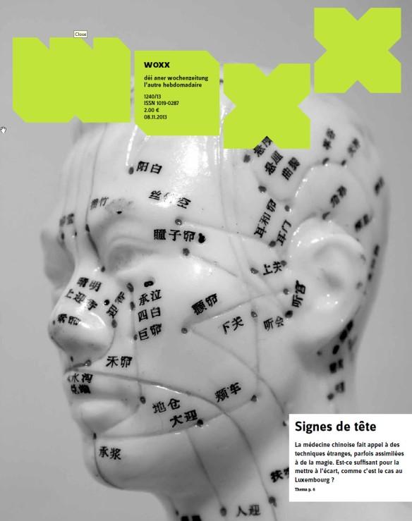 Superbe couverture pour mon premier article sur la médecine traditionnelle chinoise.