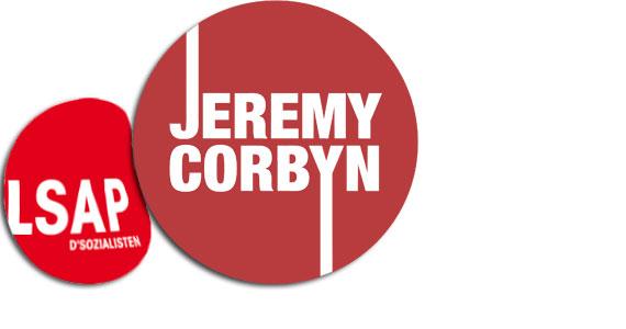 Corbyn rockt die LSAP (Montage: woxx)